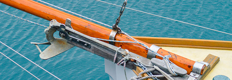 Sailing boat deck